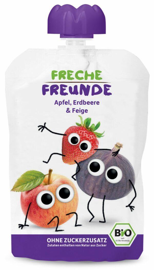 """Freche Freunde """"Apfel, Erdbeere & Feige"""" BIO 6x100g"""
