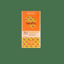 fairafric 70% Bio-Zartbitterschokolade & Kakaosplitter 10x80g