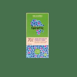fairafric 70% Bio-Zartbitterschokolade Tigernuss & Mandel 10x80g