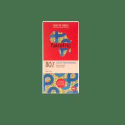 fairafric 80% Bio-Zartbitterschokolade 10x80g