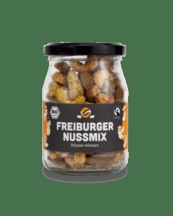 fairfood Freiburg Bio Fairtrade Freiburger Nuss-Mix 133g im Pfandglas (