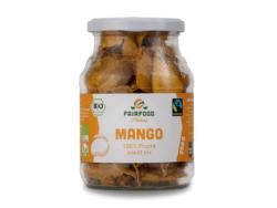 fairfood Freiburg Bio Fairtrade Mango getrocknet, 200g im Pfandglas 6x200g