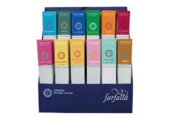 farfalla Faircense Räucherstäbchen Display gefüllt 12 Sorten à 10 Stk. 1Stück