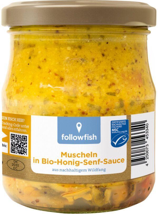 followfish Geräucherte Muscheln in Bio-Honig-Senf-Sauce, aus nachhaltigem Wildfang 6x200g