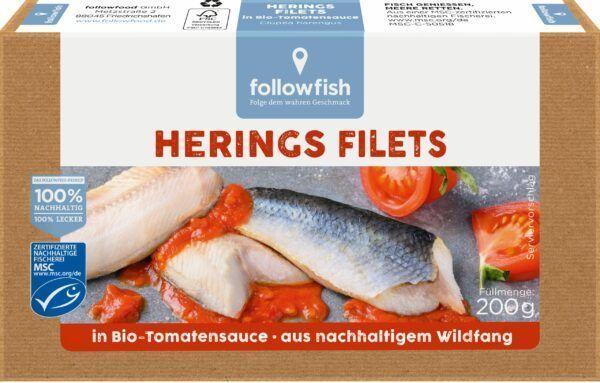 followfish Heringfilet in Bio-Tomatensauce, aus nachhaltigem Wildfang 10x200g