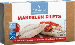 followfish Makrelen Filets in Bio-Tomatensauce. Aus nachhaltigem Wildfang 9x125g