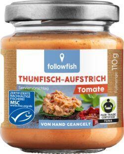 followfish Thunfisch-Aufstrich Tomate mit Thunfisch aus nachhaltigem Wildfang und Bio-Zutaten 6x110g