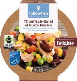 followfish Thunfisch-Salat el Gusto México mit Thunfisch aus Angelruten- Fischerei und mediteranen Bio-Zutaten 8x160g