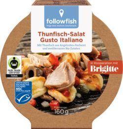 followfish Thunfisch-Salat Gusto Italiano, mit Thunfisch aus Angelruten- Fischerei und mediteranen Bio-Zutaten 8x160g