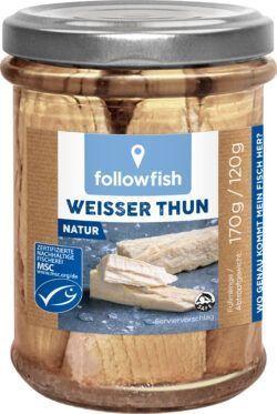 followfish Weißer Thun in eigenem Saft Natur 6x170g