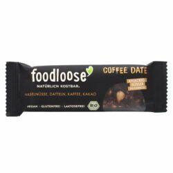 foodloose Bio-Nussriegel Coffe Date von 24x35g