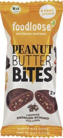 foodloose Bio-Peanut Butter Bites Erdnuss-Schoko von 20x40g