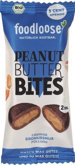 foodloose Bio-Peanut Butter Bites Erdnussmus von 20x40g