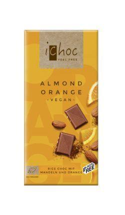 iChoc Almond Orange - Rice Choc 10x80g