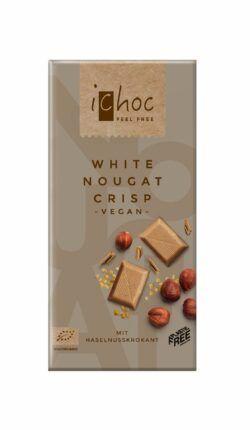 iChoc White Nougat Crisp 10x80g