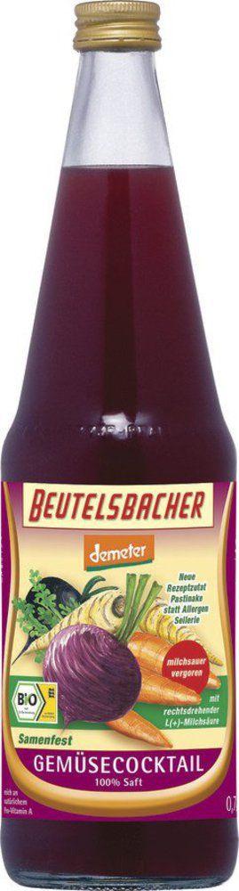 BEUTELSBACHER Demeter Gemüsecocktail milchsauer vergoren 6x0,7l