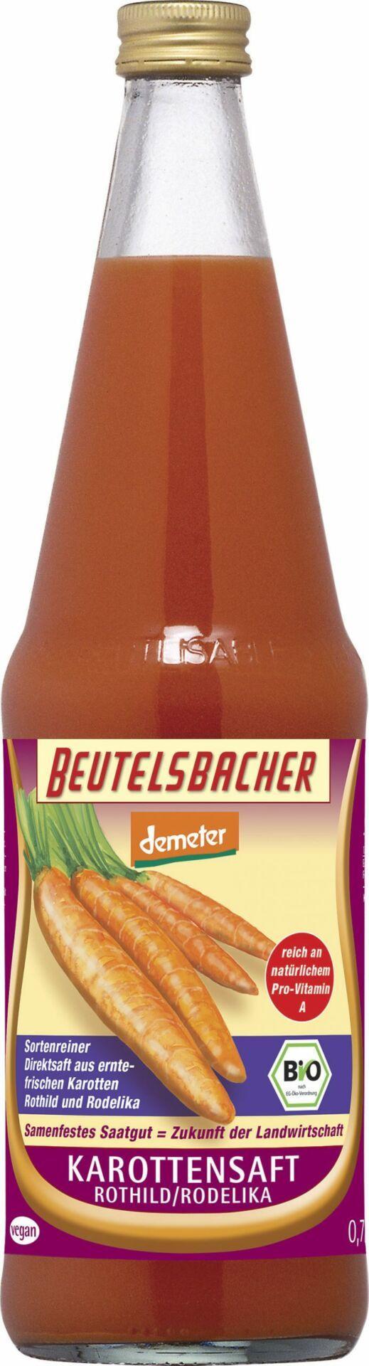 BEUTELSBACHER Demeter Karottensaft Rodelika Direktsaft 6x0,7l