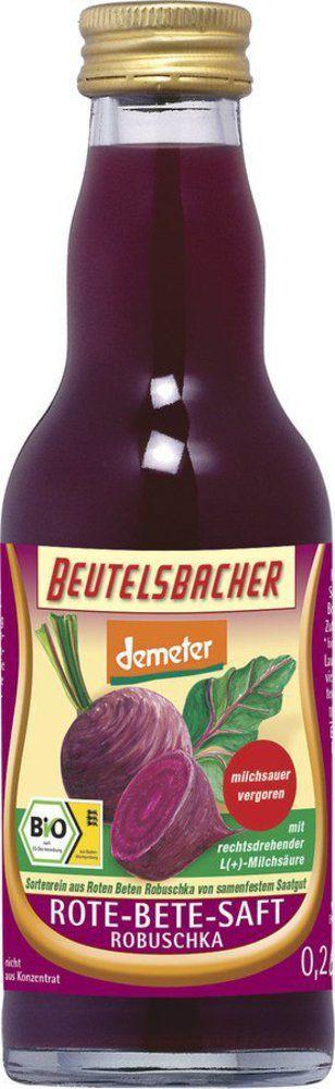 BEUTELSBACHER Demeter Rote-Bete-Saft Robuschka milchsauer vergoren 12x0,2l