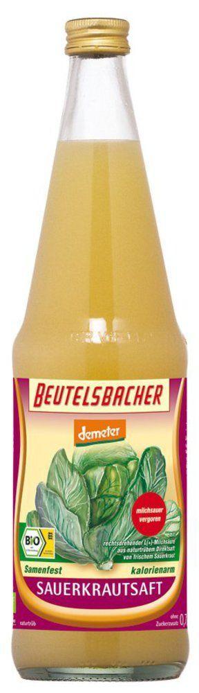 BEUTELSBACHER Demeter Sauerkrautsaft milchsauer vergoren 6x0,7l