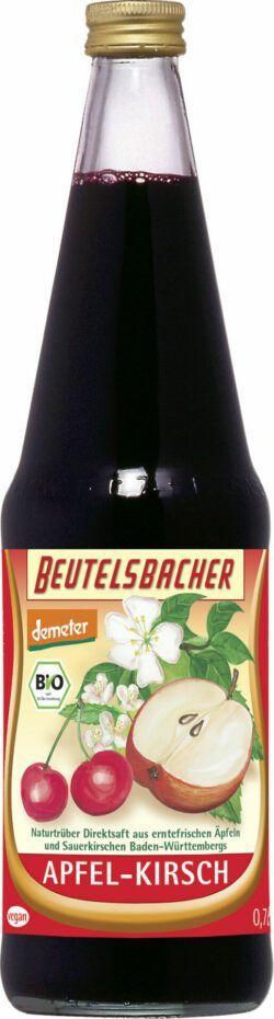 BEUTELSBACHER Demeter Apfel-Kirsch-Saft Naturtrüber Direktsaft 6x0,7l