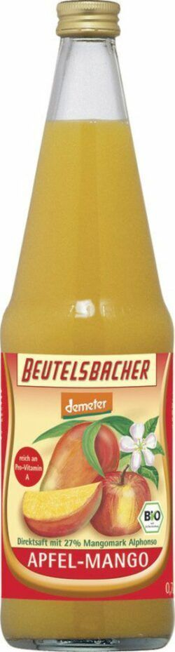 BEUTELSBACHER Demeter Apfel-Mango Direktsaft 6x0,7l