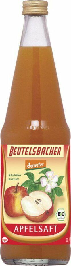 BEUTELSBACHER Demeter Apfelsaft naturtrüber Direktsaft 6x0,7l