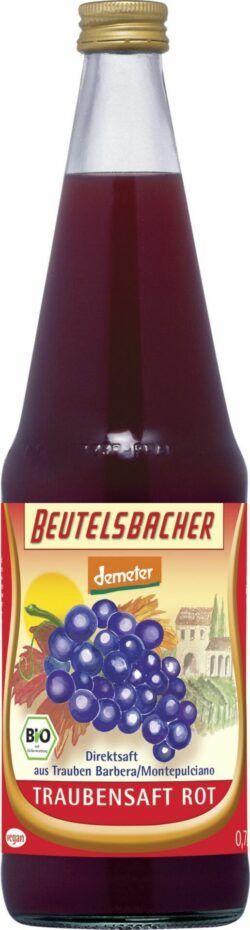 BEUTELSBACHER Demeter Traubensaft rot naturtrüber Direktsaft 6x0,7l