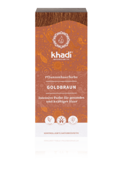 khadi Naturprodukte khadi Pflanzenhaarfarbe Goldbraun 100g