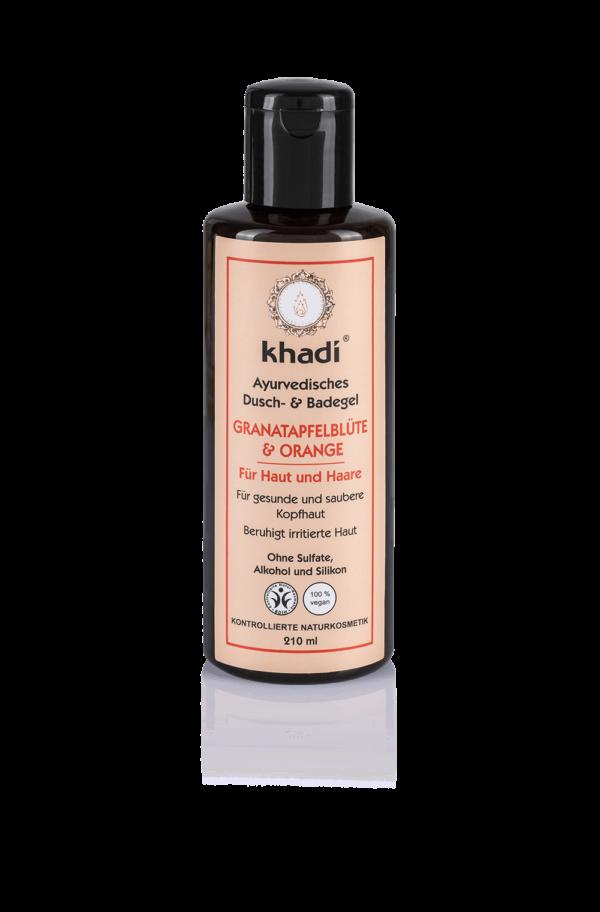 khadi Naturprodukte khadi Ayurvedisches Duschgel Granatapfelblüte & Orange 210ml