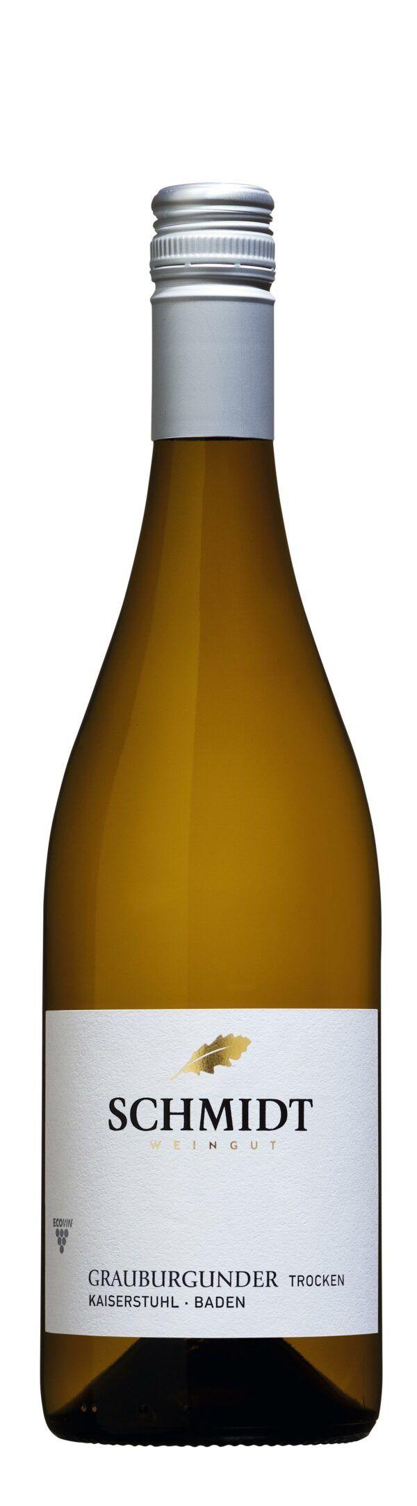 Ökologisches Weingut Schmidt Grauburgunder QbA Trocken Lagenwein 0,75l