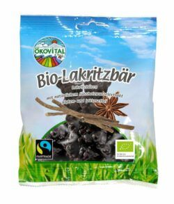Ökovital Bio Lakritzbären, gegossenes Starklakritz mit Gelatine 12x80g