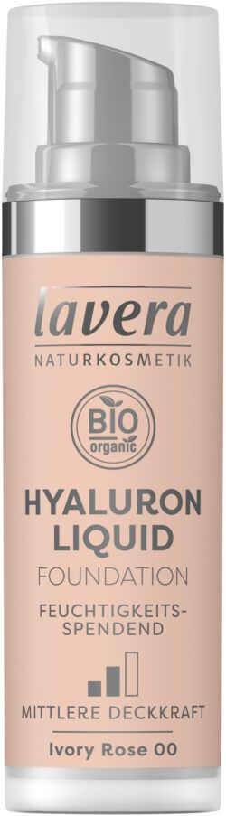 lavera HYALURON LIQUID FOUNDATION -Ivory Rose 00- 30ml