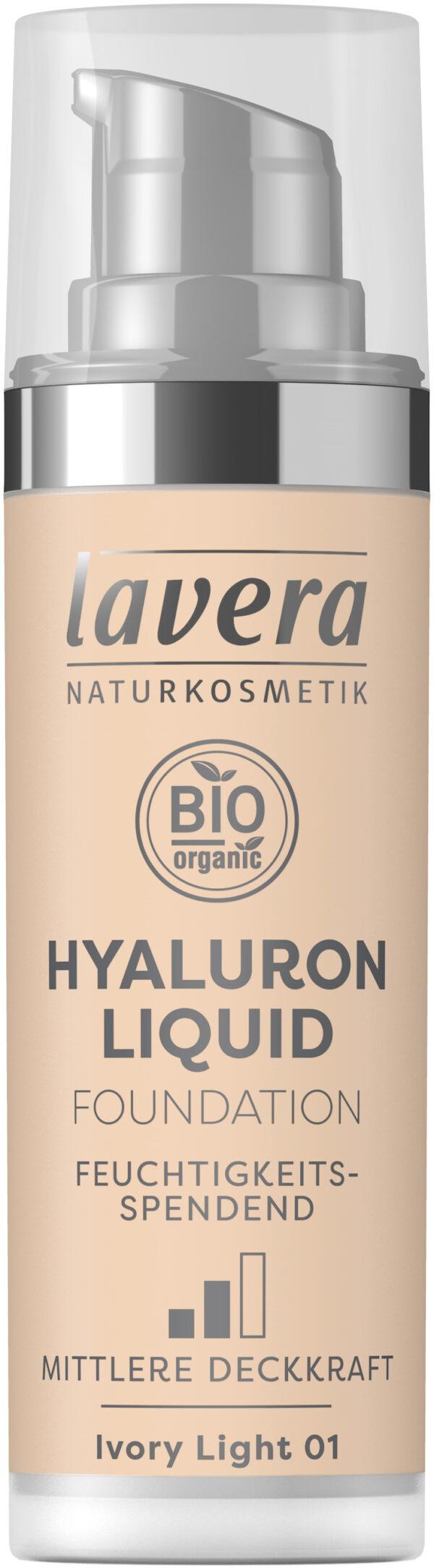 lavera HYALURON LIQUID FOUNDATION -Ivory Light 01- 30ml