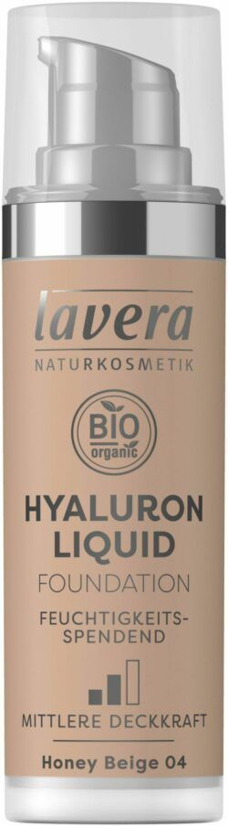 lavera HYALURON LIQUID FOUNDATION -Honey Beige 04- 30ml