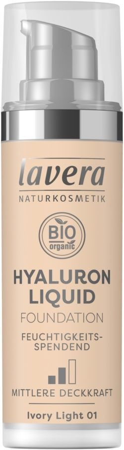 lavera HYALURON LIQUID FOUNDATION -Ivory Light 01- 30ml