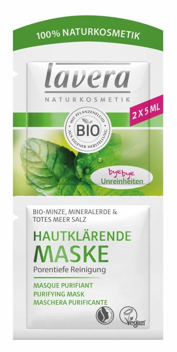 lavera Hautklärende Maske Bio-Minze 15x10ml