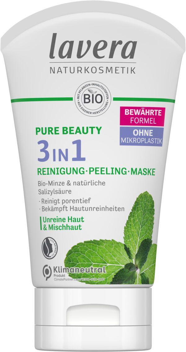 lavera PURE BEAUTY 3in1 Reinigung - Peeling - Maske 4x125ml