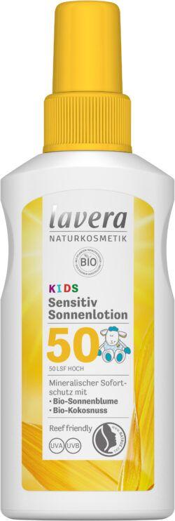 lavera Sensitiv Sonnenlotion KIDS LSF 50 4x100ml