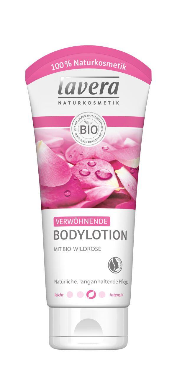 lavera Verwöhnende Bodylotion Bio-Wildrose 4x200ml