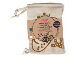 memo AG 2er-Pack memo Bio-Brotbeutel 35 x 40 cm 1Stück