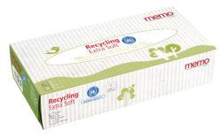 memo AG memo Kosmetiktücher Recycling Extra Soft 100 Stück, 2-lagig 16x100Stück