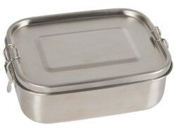 memo Handelsware Edelstahl-Lunchbox mit Trennsteg und Silikondichtung, 800 ml 1Stück