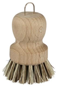 memo Handelsware Holz-Topfbürste mit straffen Naturborsten, FSC-zertifiziert 1Stück