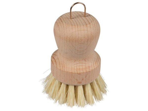 memo Handelsware Holz-Topfbürste mit mittelfesten Naturborsten 1Stück