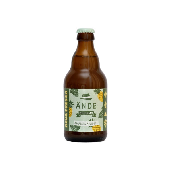 Ände Bio Limo Ananas Minze - Agua Fresca Ananas 330ml