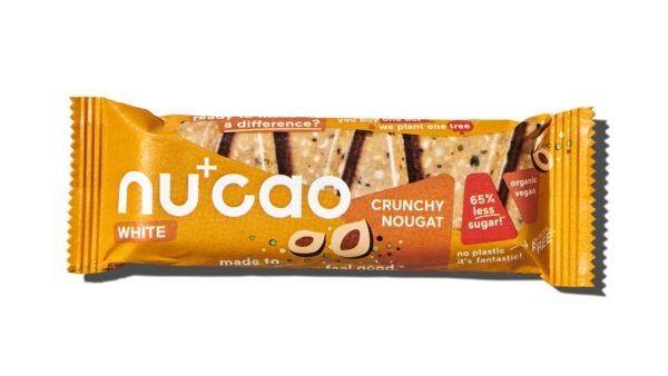 nucao - Bio- Riegel mit Kakaobutter und Hanfsamen mit Geschmack Nougat 12x40g