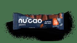 nucao - Bio-Riegel mit Kakao und Hanfsamen mit Geschmack Almond Sea Salt 12x40g