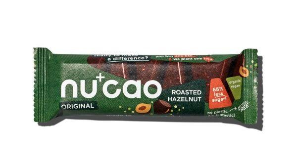 nucao Bio-Schokolade mit Hanfsamen mit Geschmack Haselnuss 12x40g