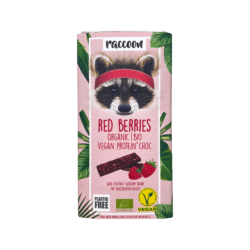 raccoon Bio Protein Choc Red Berries 12x40g