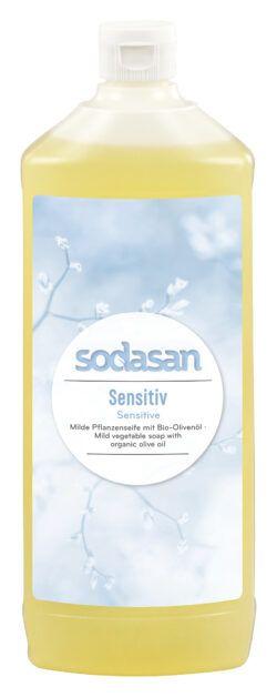 sodasan Flüssigseife Sensitiv Nachfüller 1l